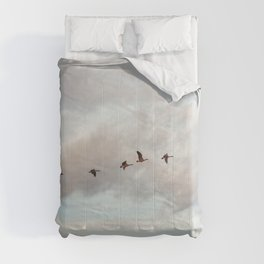 Migration of the Birds // Mountain and Sky Meets Nature Landscape Photography of Wildlife Comforters