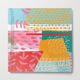 Summer Abstract Metal Print
