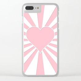 Pink Bubblegum Valentine Love Explosion Clear iPhone Case