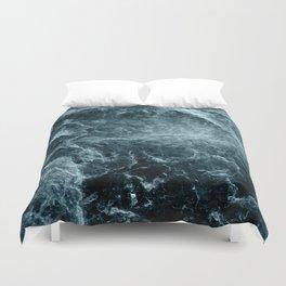 Enigmatic Deep Blue Ocean Marble #1 #decor #art #society6 Duvet Cover