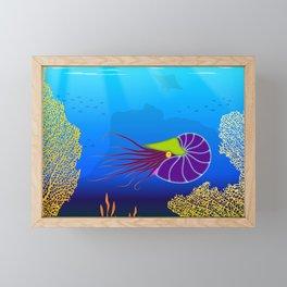 Paper Craft Nautilus Framed Mini Art Print