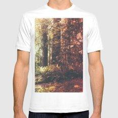 Beautiful California Redwoods MEDIUM White Mens Fitted Tee