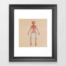 Bones. Questions series Framed Art Print