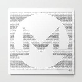 Binary Monero Metal Print