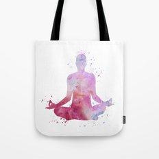 Yoga - Lotus pose  Tote Bag