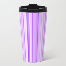 Purple Candy Stripe Travel Mug