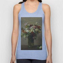 Henri Fantin-Latour - Flowers From Normandy Unisex Tank Top