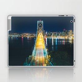 Treasure Island view of the Bay Bridge - San Francisco, CA Laptop & iPad Skin