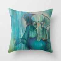 ganesh Throw Pillows featuring Ganesh  by Magick Monica
