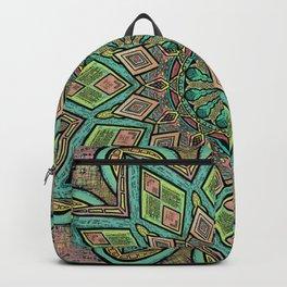 Glitched Mandala  Backpack
