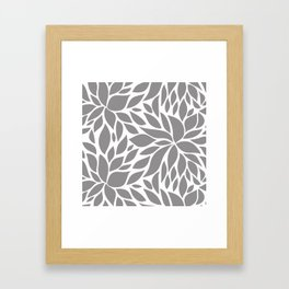 Bloom - Gray Framed Art Print