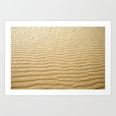 NATURAL SAND ART Art Print