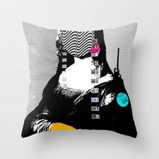 Mona Lisa StreetPopArt  Throw Pillow