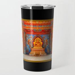 Golden Temple Laos Travel Mug