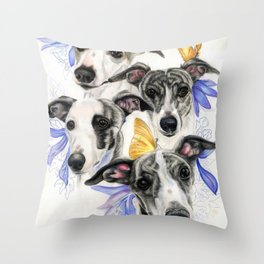 Whippets Throw Pillow