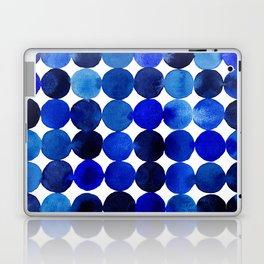 Blue Circles in Watercolor Laptop & iPad Skin