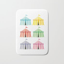 colourful circus tents Bath Mat