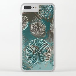 Monstera Style Clear iPhone Case