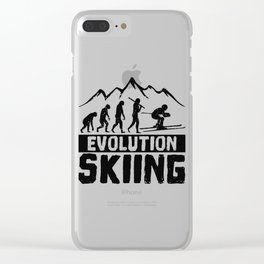 Evolution Skiing Clear iPhone Case
