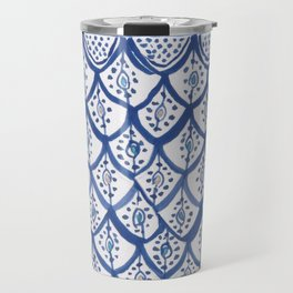 Moroccan Ceramic Tiles - Cobalt Blue Travel Mug
