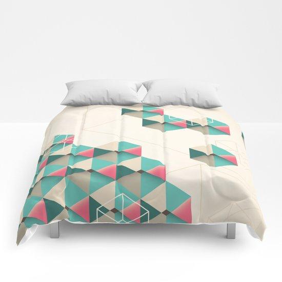 Empty cubes Comforters