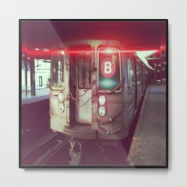 Red B Train Metal Print