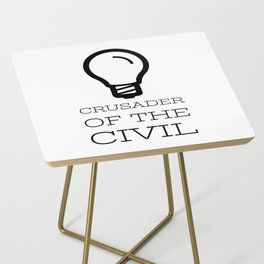 Thinker's Right Logo - Crusader of the Civil Side Table