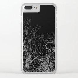 Dark night forest Clear iPhone Case