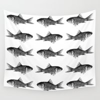 goldfish Wall Tapestries featuring Goldfish by Meredith Mackworth-Praed