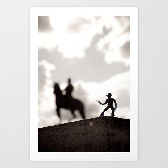 The Cowboy - Toy photography Art Print