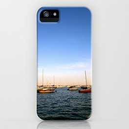 Lake Michigan Sailboats iPhone Case