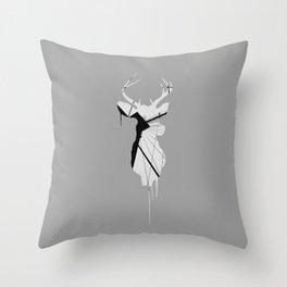 Deer Head V (Brooklyn Bridge) Throw Pillow