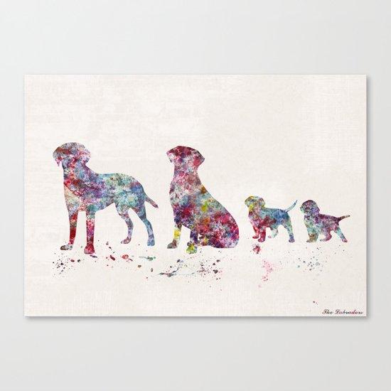 Labrador family Canvas Print