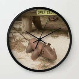 Metal Pig Art Wall Clock