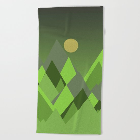 Landscape NC 07 Greenery Beach Towel