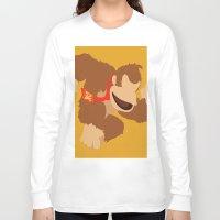 donkey kong Long Sleeve T-shirts featuring Donkey Kong(Smash) by ejgomez