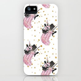 Christmas Wishes Fashion Pattern iPhone Case