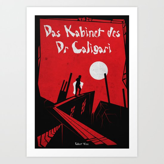 Das Kabinett Des Dr Caligari Art Print