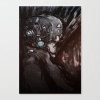 cyberpunk Canvas Prints featuring Cyberpunk 001  by Thecansone