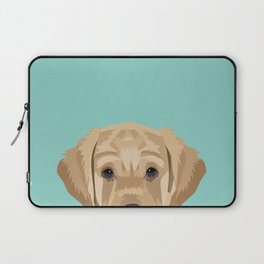 Labrador puppy pet portrait wall art and gifts for dog breed lovers Laptop Sleeve