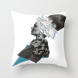 splitting brain Throw Pillow