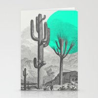 cacti Stationery Cards featuring Cacti by Zeke Tucker