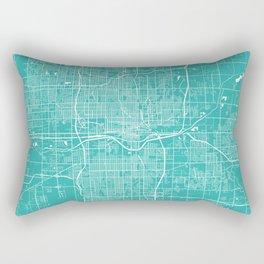Oklahoma City map turquoise Rectangular Pillow