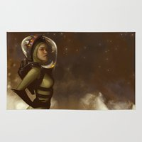 spaceman Area & Throw Rugs featuring Spaceman by Kelly Perry
