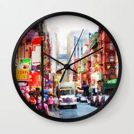 Chinatown in New York Wall Clock