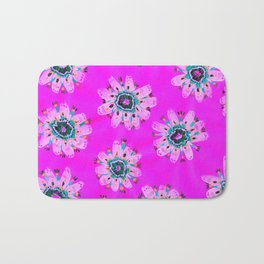 Neon Lilly Lace Rose Bath Mat
