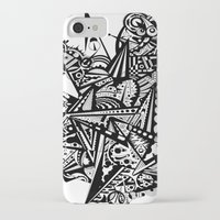 andreas preis iPhone & iPod Cases featuring Black geometry by Andreas Handgruber by Artometrie.com