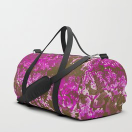 camouflage with snake texture in purple Duffle Bag