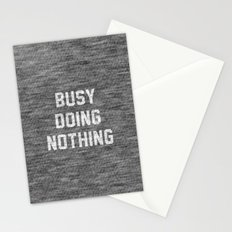 Busy Doing Nothing Stationery Cards