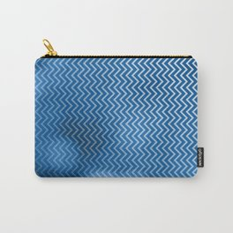 Snorkel blue chevron pattern with bokeh texture Carry-All Pouch